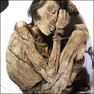 Peruvian mummy 1200 to 1400