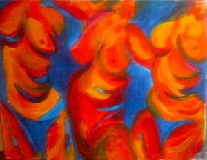 compatriots-2 acrylics on board. colour study