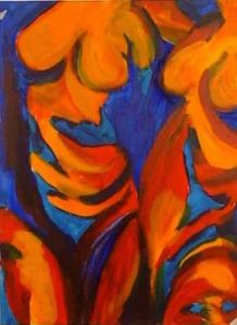 compatriots1 acrylics on board colour study