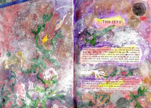 The start of the altered art book pages 1 and 1 2002