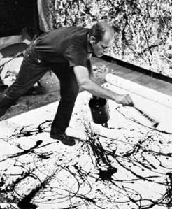 pollock action-painting
