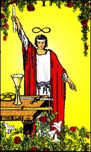 -magician tarot card from the Rider Waite Smith pack