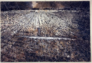 kiefer-the-milky-way-1985-87-emulsion-paint-oil-acrylic-shellac-on-canvas-wires-and-lead