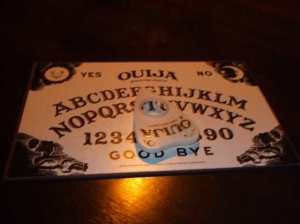 a-planchette-or-ouiji-board.  see the haunted house stonegate