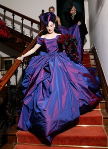 dita-von-teese-wedding-westwood-gown