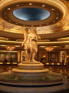 I come to party in Caesars - not to praise him