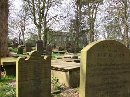 haworth graveyard in the daylight