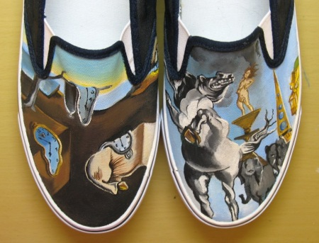 Salvador_Dali_shoes_by_vcallanta these are handpainted!