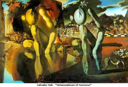 Salvador Dali MetamorphosisOf Narcissus.  Dali's paintings are full of Freudian symbolism