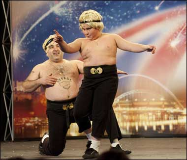 Stavros Flatley WELL DONE!  Not my choice but if you beat Susan Boyle I shall LOVE you!