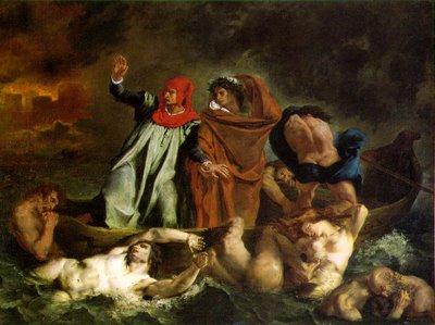 The Barque of Dante by Delacroix