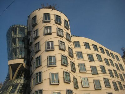 dancing windows nationale Nederlanden building