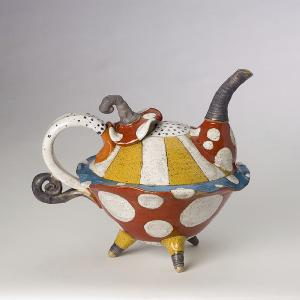 dwo wen chen flying saucer teapot