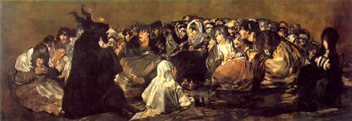 Goya_witches sabbath, the great goat