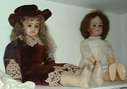 The wax doll dressed in velvet c 1860