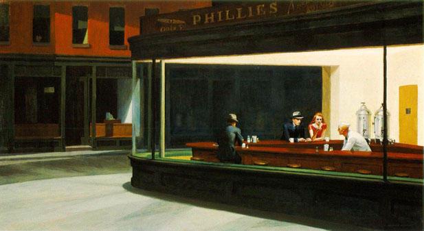 Nighthawks by Edward Hopper 1942