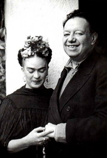 Diego Rivera and his wife Frida Kahlo