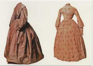 Bronte dresses, I bet these were lovely when they were first made.  Even cloth turns sepia