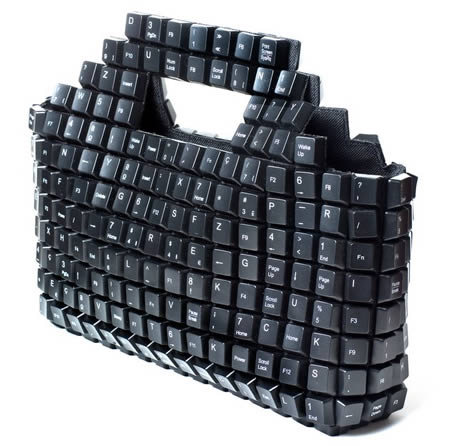 computer keyboard handbag, I LOVE this!