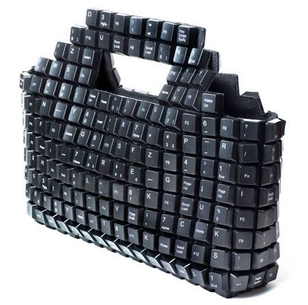 computer keyboard handbag, I LOVE this!