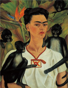 frida kahlo 1943  the monkeys become a talisman for the artist