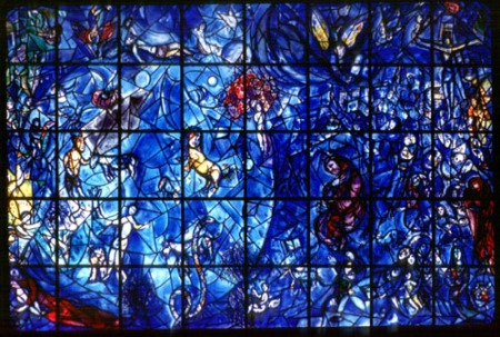 stained glass, another medium Chagall worked with