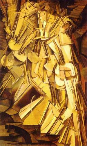 nude descending from a staircase  No. 2 duchamp