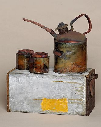 Teapot show 2008  Sharon Bartmann'Oil for two' raku