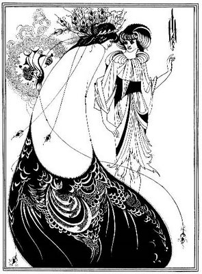 The Peacock Skirt  from Salome by Beardsley