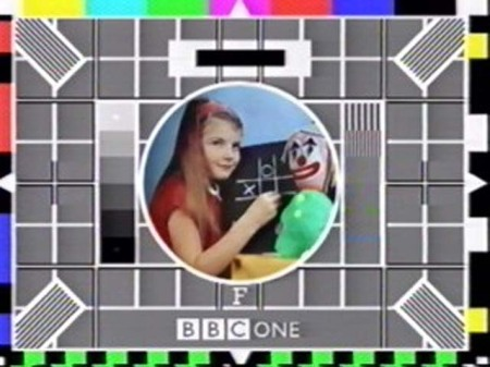 BBC Test card is what they put up when nothing is happening
