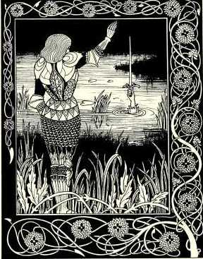 Beardsley Excalibur how sir belvedere cast the sword excalibur into the water