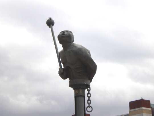 quayside sculpture 'River God'