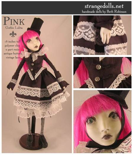 Gothic Lolita.  this doll reminds me of Lemony Snicket!
