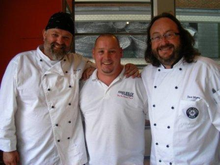 Hairy Bikers with guest chef