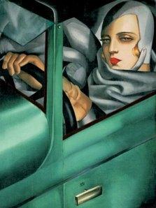 self portrait with Bugatti car