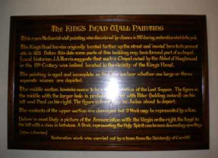kings head wall painting info