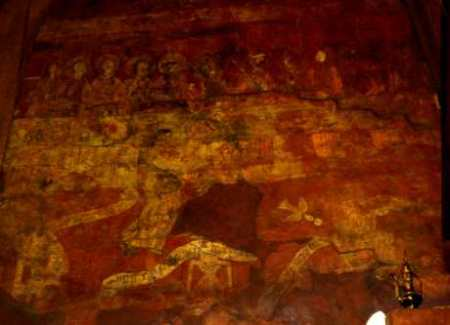 kings head wallpainting detail