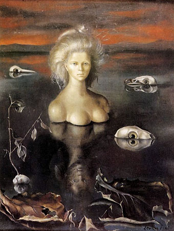 Leonora Fini.  This painting is just one of many of the pieces  at The Angels of Anarchy exhibition