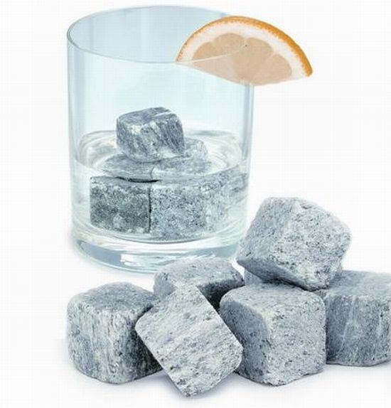 Nordic rocks.  Swedish company selling rocks as ice cubes