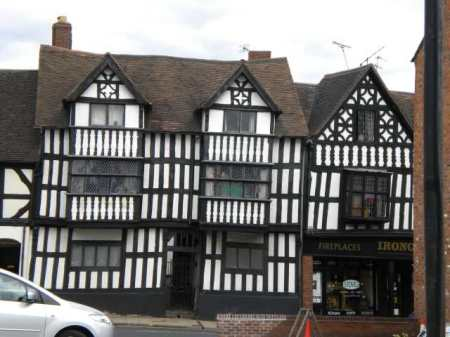 just one of many ancient buildings in Shrewsbury
