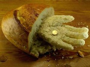 very strange bread hand