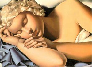 Kizette sleeping (the artist's daughter)