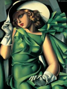 Tamara-de-Lempicka-Portrait-of-a-Young-Girl-in-a-Green-Dress--1930