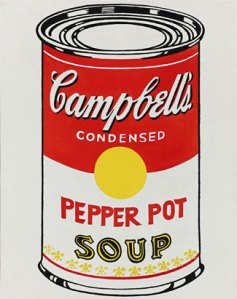 warhol soup can..because he can