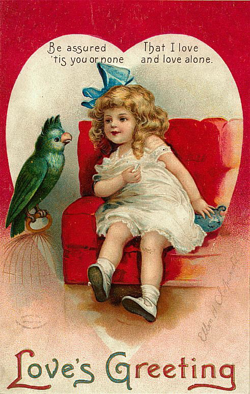 vintage valentine cards  Echostains Blog