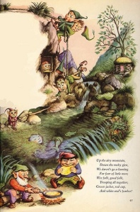 Giant Golden book of elves and fairies.  Illustration by Garth Williams