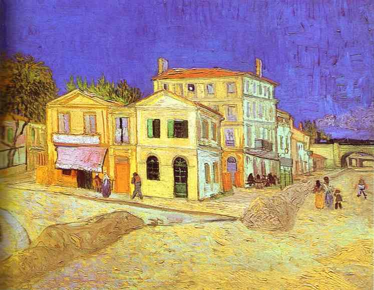 Van gogh yellow house at arles 1888Behind the Paint   The bedroom at Arles  Van Gogh   Echostains Blog. The Bedroom Van Gogh Painting. Home Design Ideas