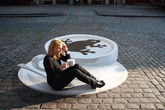 Coffee inspires the world's artists. Amazing coffee street art.