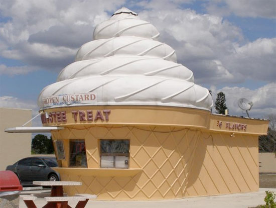 Ice Cream Cone Shaped Building For Sale