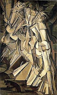 Nude descending staircase by Duchamp